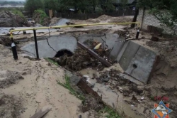 Прошедшие ливни размыли дороги в Мозыре
